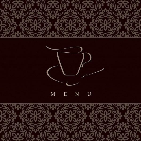thiết kế menu coffee đẹp