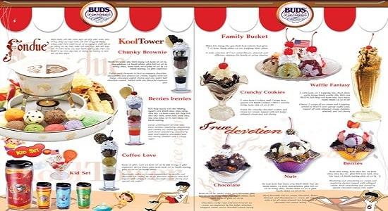 thiết kế menu đồ ngọt đẹp