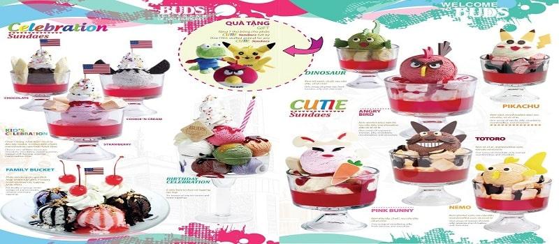 thiết kế menu đồ ngọt