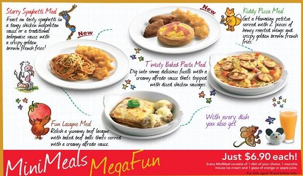 thiết kế menu món ăn trẻ em dễ thương