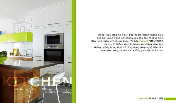 Lời nói đầu trong thiết kế catalogue nhà bếp
