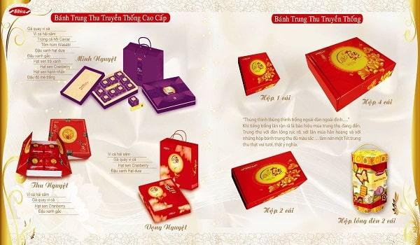 mẫu thiết kế catalogue bánh trung thu