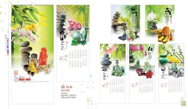 mẫu thiết kế catalogue lịch vạn niên đẹp