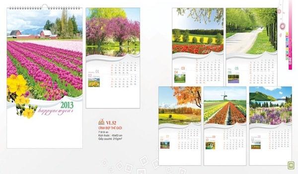 mẫu thiết kế catalogue lịch vạn niên thu hút