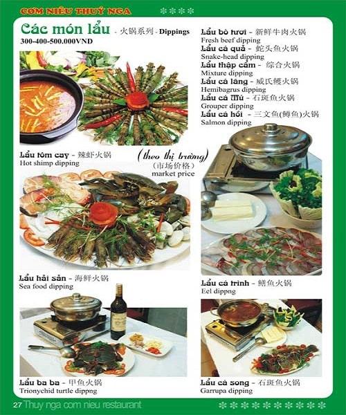 mẫu thiết kế menu hải sản đẹp