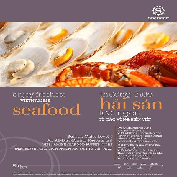 Thiết kế menu hải sản bắt mắt