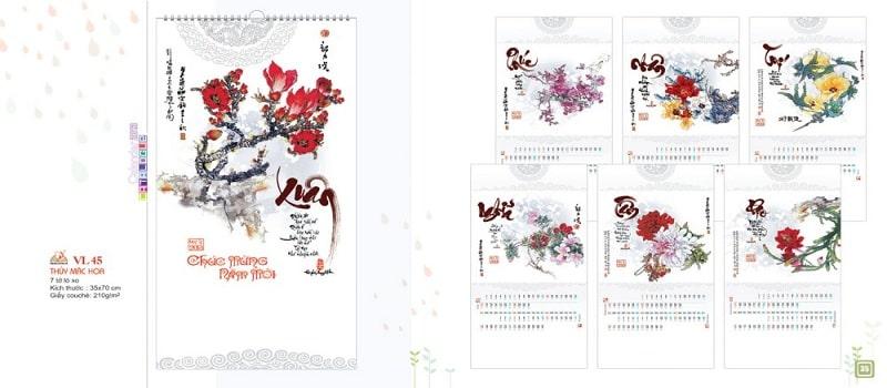 thiết kế catalogue lịch vạn niên