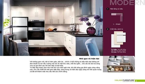 thiết kế catalogue nhà bếp chuẩn