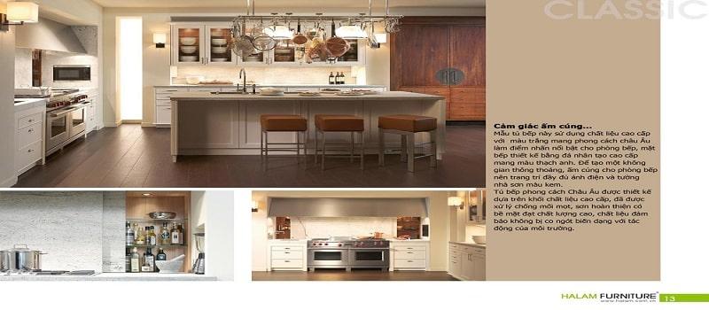 thiết kế catalogue nhà bếp