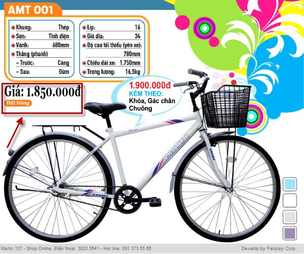 thiết kế catalogue xe đạp dễ thương