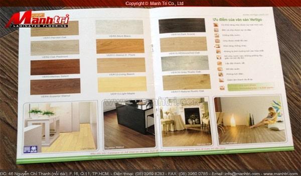thiết kế catalogue sàn gỗ công nghiệp đẹp