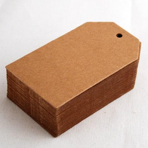In thẻ treo giấy kraft bồi hai lớp