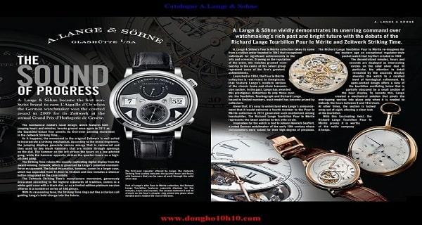 Mẫu thiết kế catalogue đồng hồ đẹp