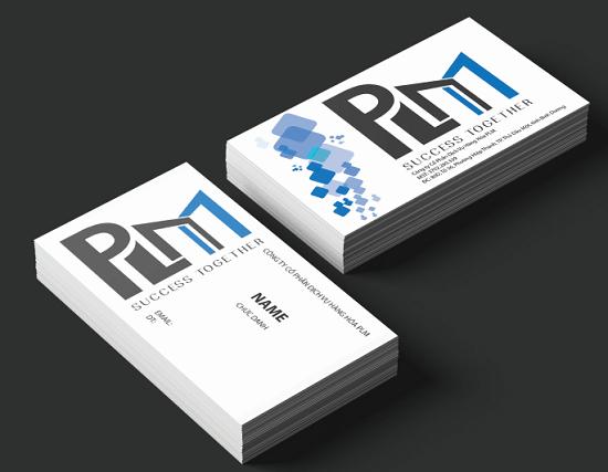 Phối cảnh mẫu thiết kế name card phong thủy