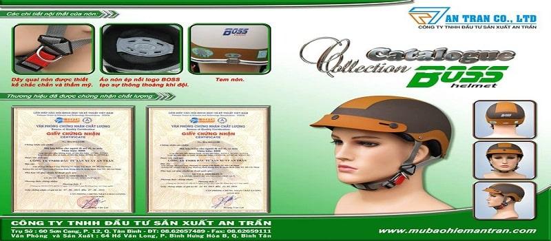 thiết kế catalogue mũ bảo hiểm