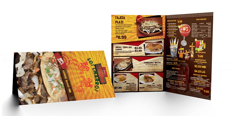 Thiết kế menu giấy bồi