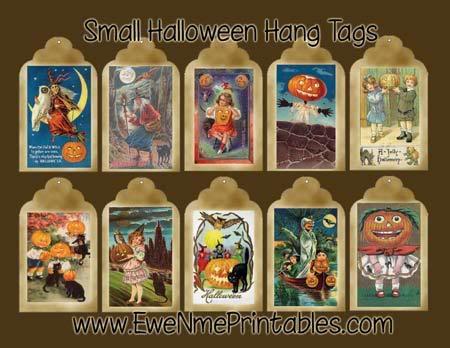 Mẫu thiết kế thẻ treo shop thời trang halloween