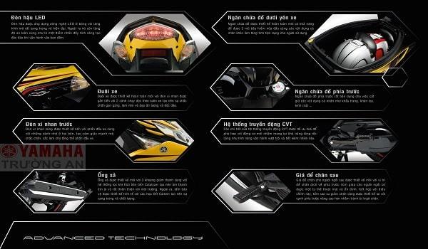 thông số kỹ thuật rõ ràng trong thiết kế catalogue xe máy