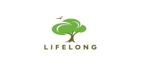 Thiết kế logo màu xanh thiên nhiên hài hòa
