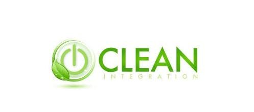 Thiết kế logo màu xanh thiên nhiên - logo clean