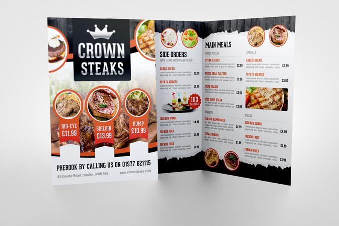 Bản thiết kế menu đẹp