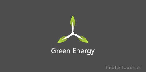 Thiết kế logo màu xanh thiên nhiên