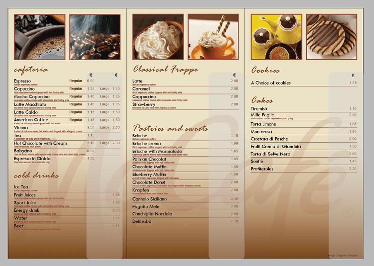 Làm menu thay giá