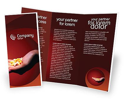 Thiết kế brochure dược phẩm ấn tượng của sắc đỏ