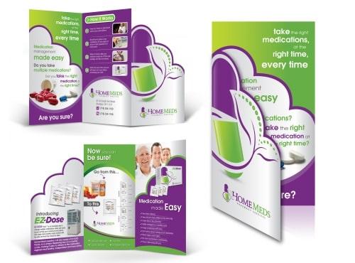 Thiết kế brochure dược phẩm cách điệu