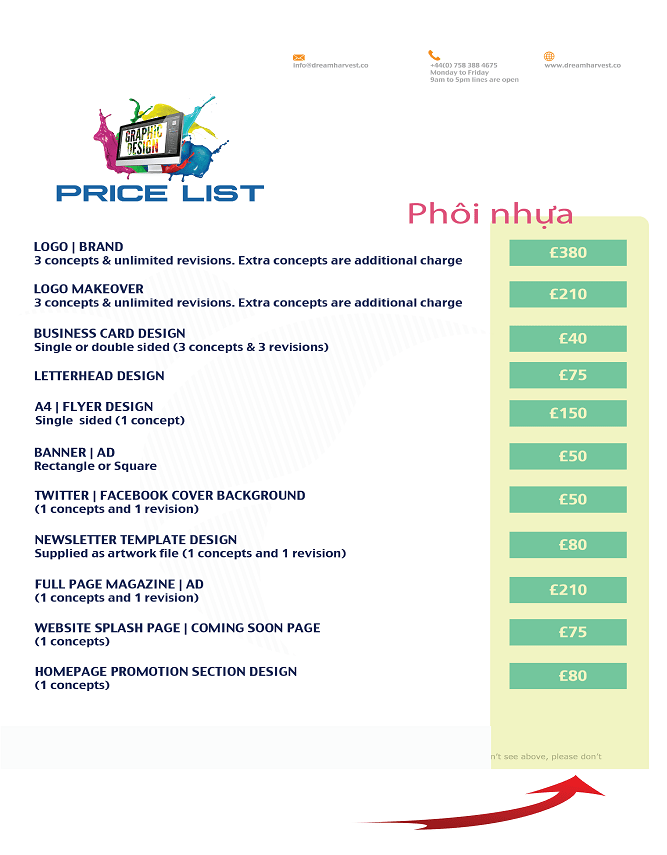 Thiết kế menu tiện lợi