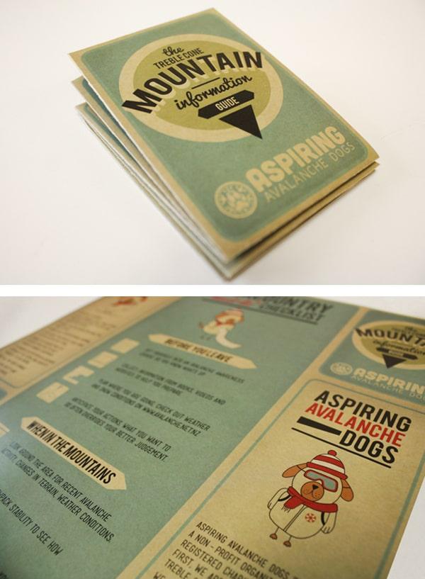 Thiết kế brochure trên giấy kraf