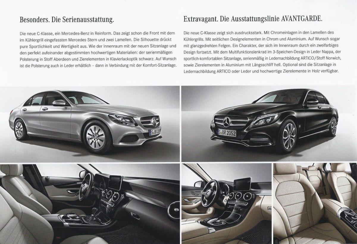 Mẫu thiết kế brochure Mercedes-C-Class