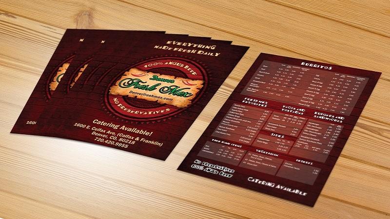 Làm menu bồi giấy carton