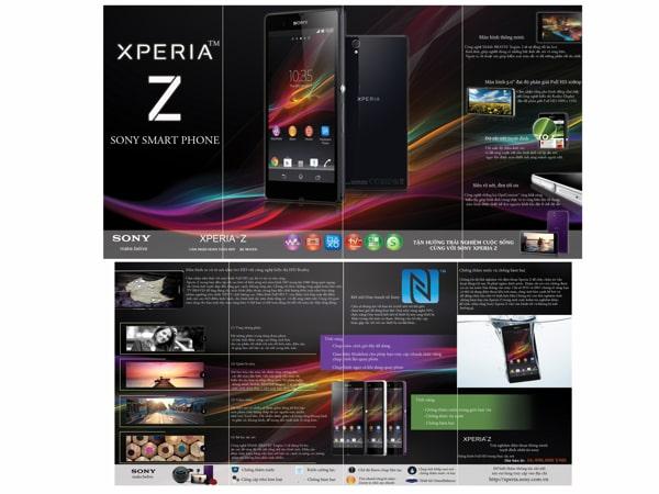 Mẫu thiết kế brochure xperia-z