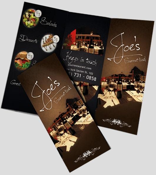 Thiết kế brochure menu phong cách