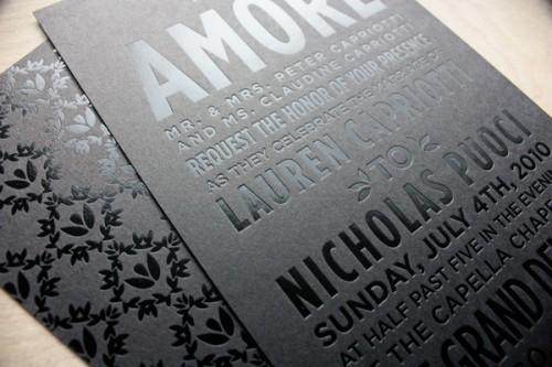 In name card vừa ép kim dập nổi trên cùng vị trí