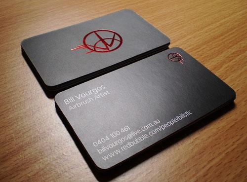 Làm card visit ép kim dập nổi khuôn 3D