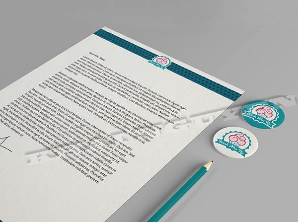 Làm letterhead - bộ nhận diện thương hiệu