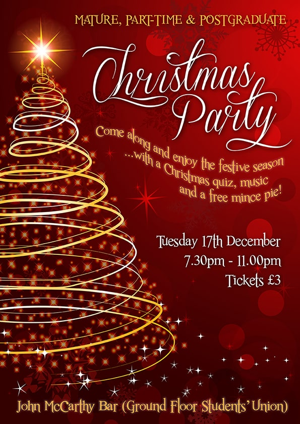 Mẫu thiết kế poster christmas party số 2