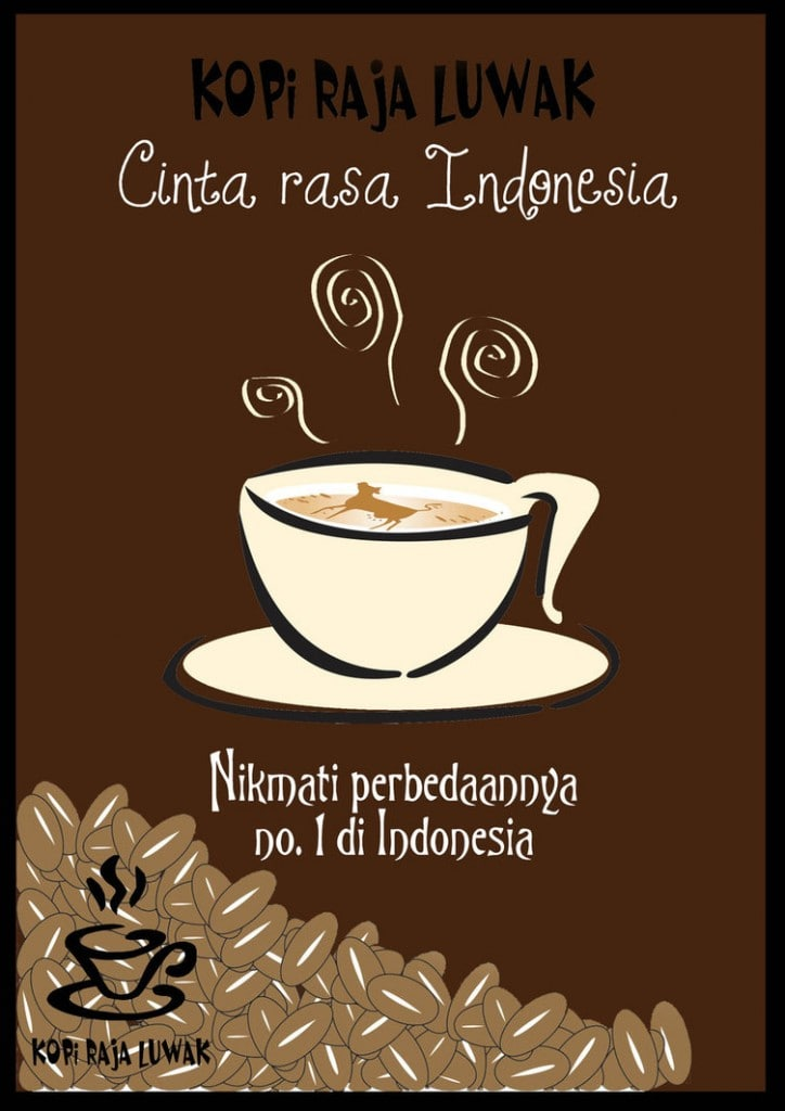 Poster cafe Indonesia