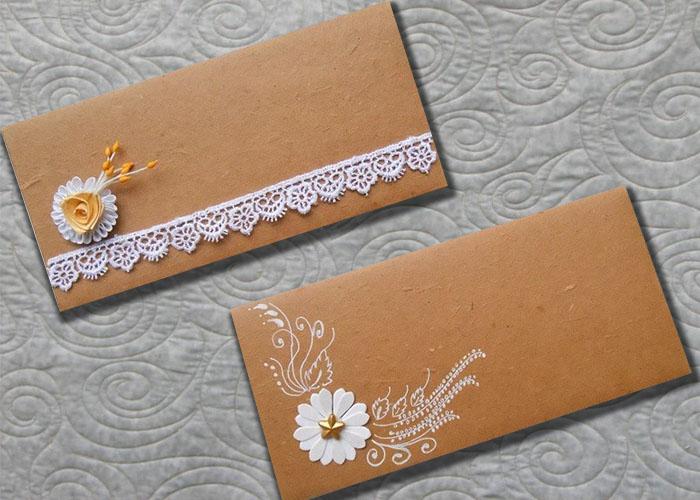 In bao thư giấy kraft, thiệp mời kraft rẻ đẹp