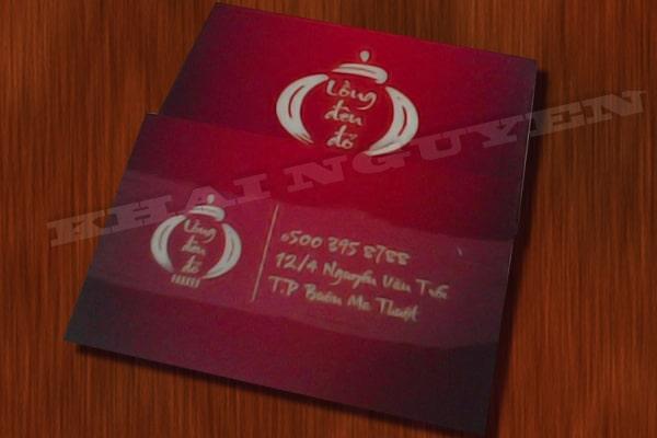 Làm card visit lồng đèn đỏ - bộ nhận diện thương hiệu nhà hàng