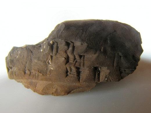 Khắc chữ trên đá của người sumer