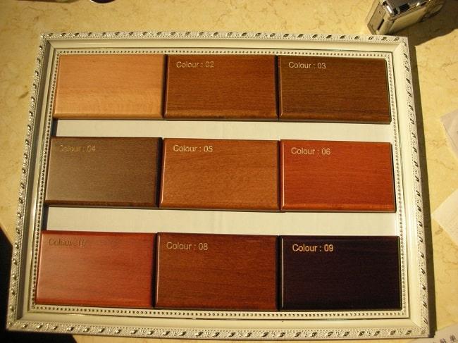 Làm bảng mẫu gỗ đặc biệt chuyên nghiệp