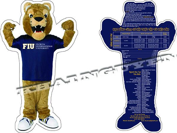 Mẫu thiết kế cut flyer hình con gấu