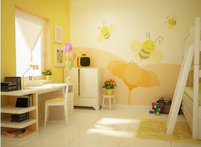 Mã màu sơn vàng sơn phòng học
