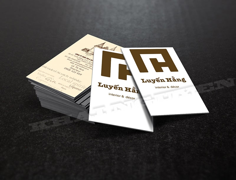 In card visit dập chìm trên giấy mỹ thuật