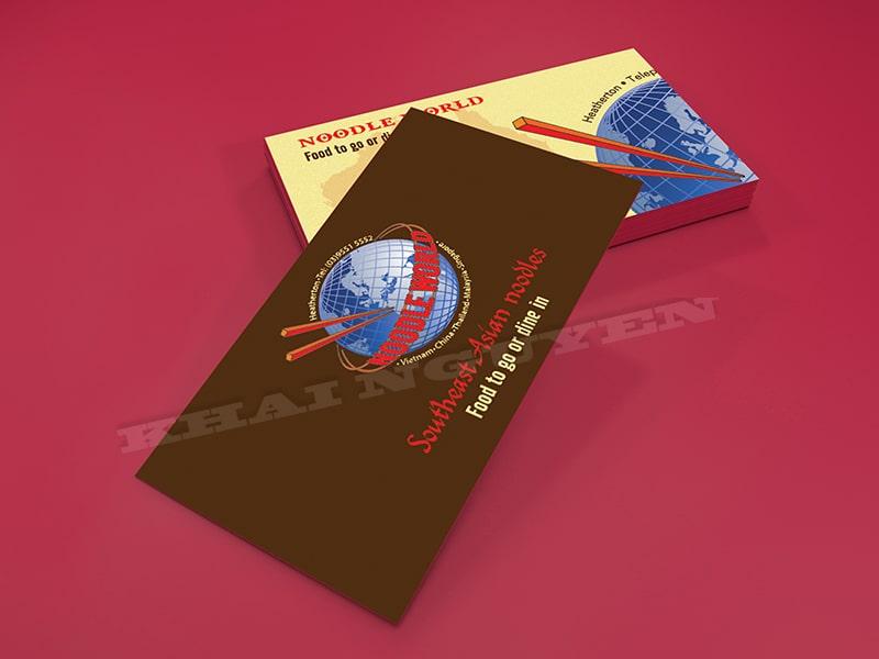 Mẫu thiết kế card visit nhà hàng
