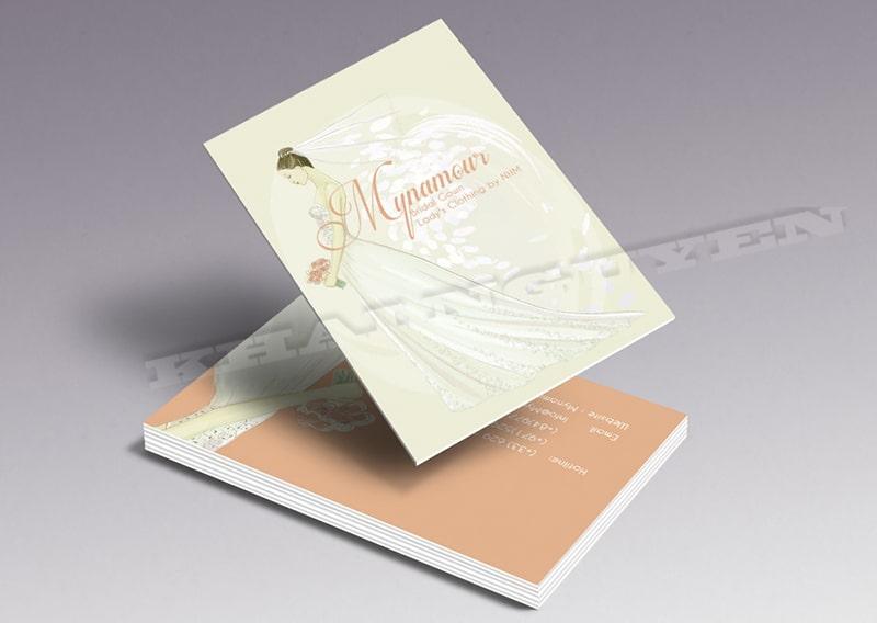 Mẫu thiết kế card visit - áo cưới