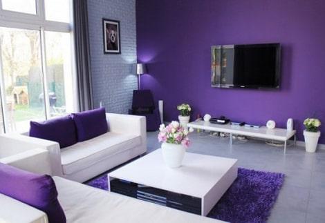Sơn phòng khách màu tím